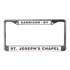 SJ White License Plate Frame