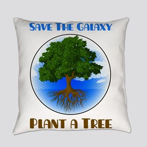 Save The Galaxy Plant A Tree Everyday Pillow