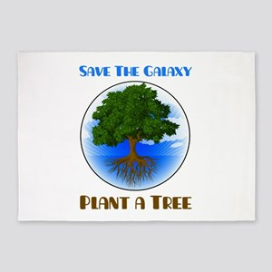 Save The Galaxy Plant A Tree 5'x7'Area Rug