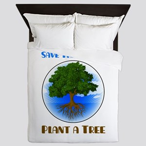 Save The Galaxy Plant A Tree Queen Duvet