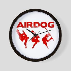Red Snowboard Airdog Wall Clock