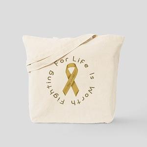 Gold Ribbon - Survivor Tote Bag