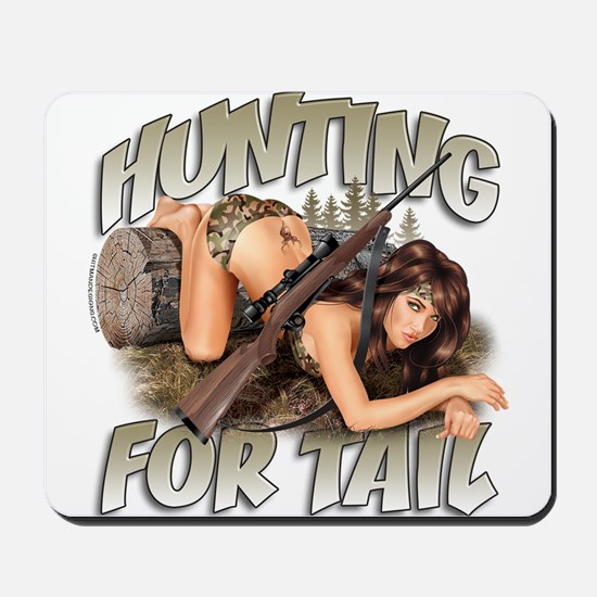 CP1008-Hunting For Tail-Pinup Mousepad