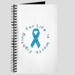 LightBlue Ribbon - Survivor Journal