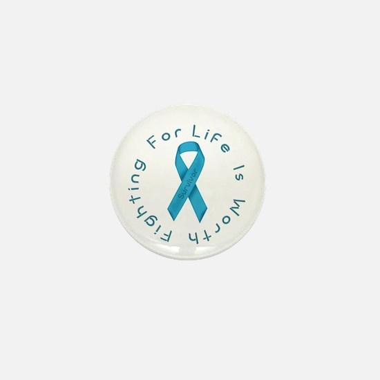 LightBlue Ribbon - Survivor Mini Button