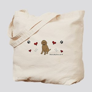 labradoodle chocolate Tote Bag