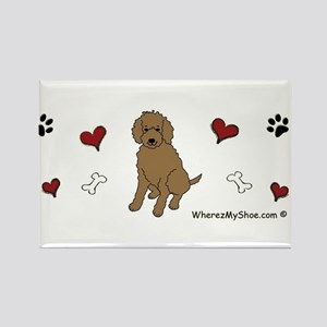labradoodle chocolate Rectangle Magnet