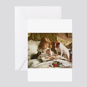 Suspense by Charles Burton Barber Greeting Cards