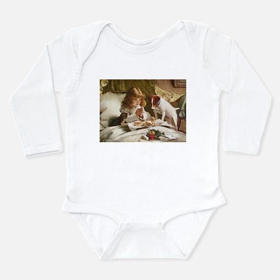 Unique Breakfast Long Sleeve Infant Bodysuit