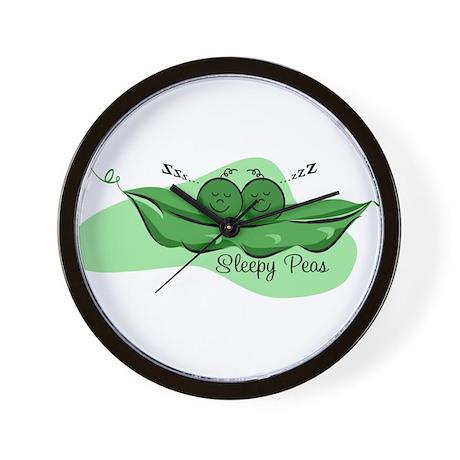 Sleepy Peas Wall Clock
