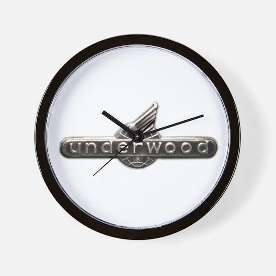 Underwood typewriter logo Wall Clock
