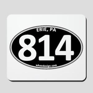 Black Erie, PA 814 Mousepad