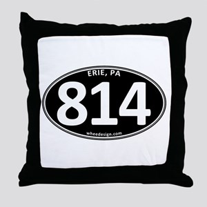 Black Erie, PA 814 Throw Pillow
