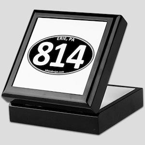 Black Erie, PA 814 Keepsake Box