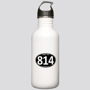 Black Erie, PA 814 Stainless Water Bottle 1.0L