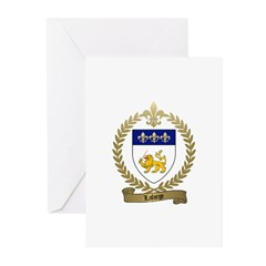 LAFORGE Family Crest Greeting Cards (Pk of 10)