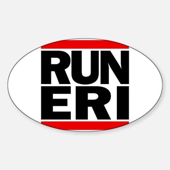 RUN ERI Sticker (Oval)