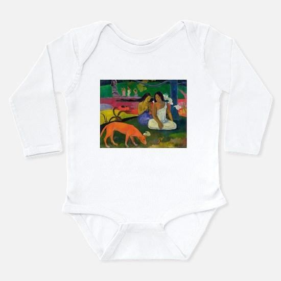 Cute Post impressionist Long Sleeve Infant Bodysuit