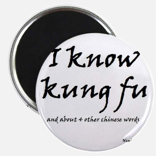 "Cute I love kung fu 2.25"" Magnet (10 pack)"