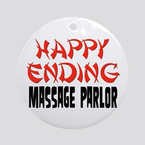 Happy Ending Massage Parlor Ornament (Round)