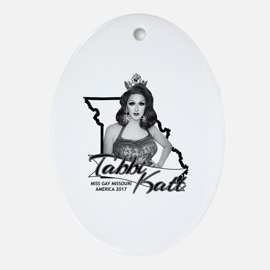 Cute Pageant queen Oval Ornament