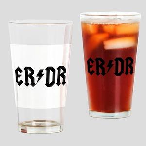 ER DR Drinking Glass