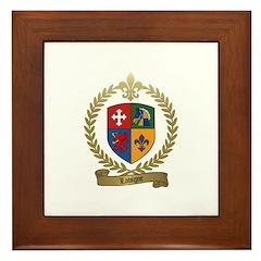 LAVIGNE Family Crest Framed Tile