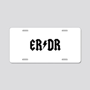 ER DR Aluminum License Plate