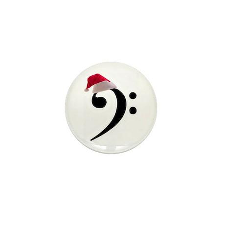 Christmas Santa Bass Clef Mini Button (10 pack)