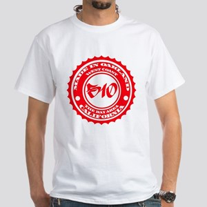 Made in Oakland - Red on White T-Shirt