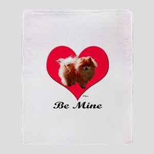 A Pomeranian Valentine Throw Blanket