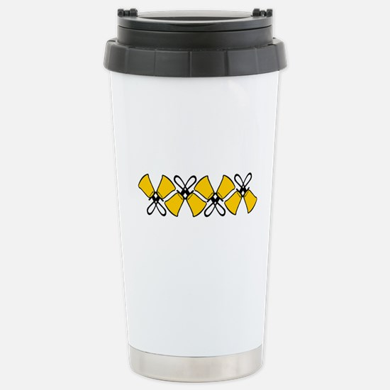 Bold Bell Border Stainless Steel Travel Mug