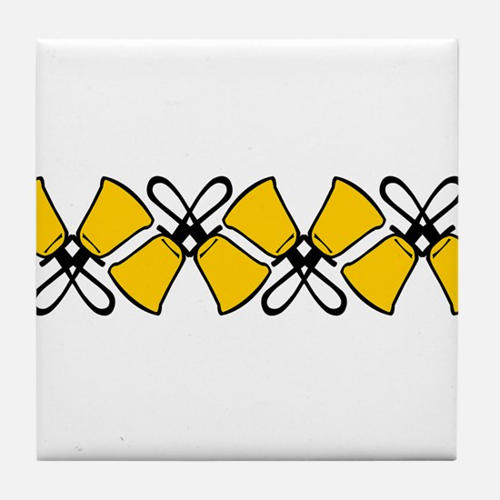 Bold Bell Border Tile Coaster