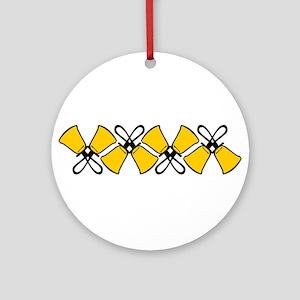 Bold Bell Border Ornament (Round)