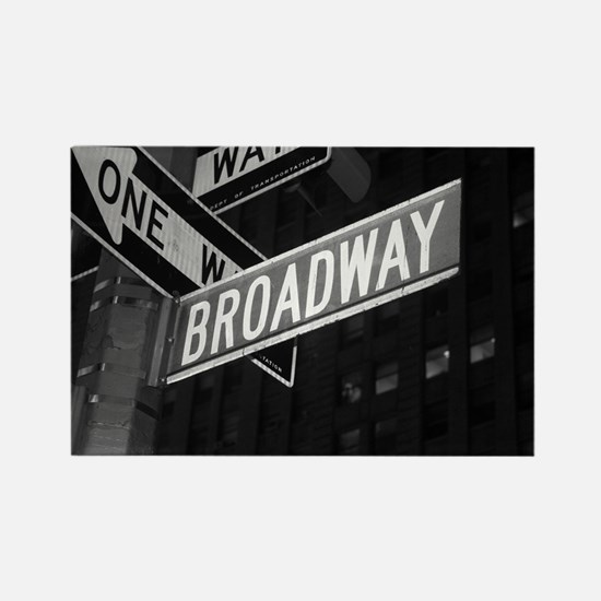 Broadway Rectangle Magnet