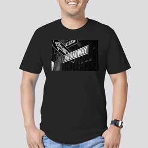 Broadway Men's Fitted T-Shirt (dark)