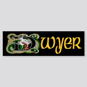 Dwyer Celtic Dragon Bumper Sticker