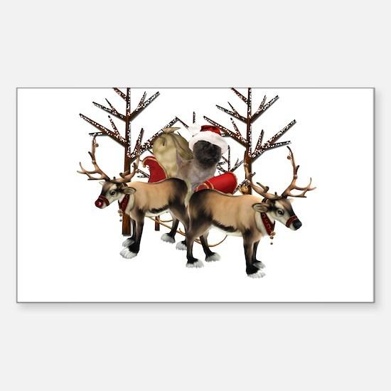 Santa Cairn Terrier Sticker (Rectangle)