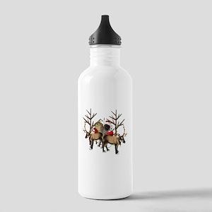 Santa Cairn Terrier Stainless Water Bottle 1.0L