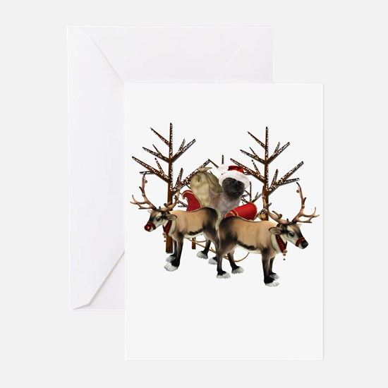 Santa Cairn Terrier Greeting Cards (Pk of 20)