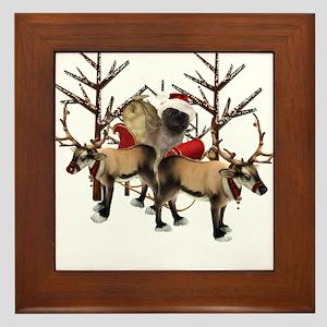 Santa Cairn Terrier Framed Tile