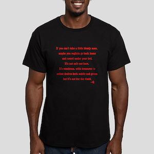 Star Trek Q timid quote Men's Fitted T-Shirt (dark