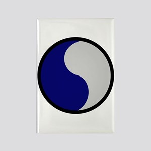 Blue and Gray Rectangle Magnet