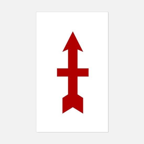 Red Arrow Sticker (Rectangle)