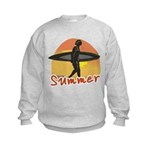 Summer Surfer Kids Sweatshirt