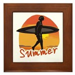 Summer Surfer Framed Tile