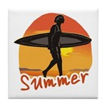 Summer Surfer Tile Coaster