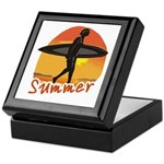 Summer Surfer Keepsake Box