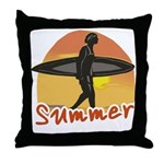 Summer Surfer Throw Pillow