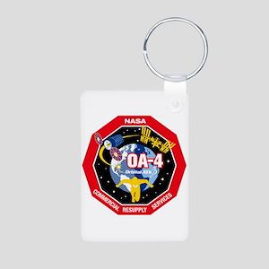 OA-4 Logo Aluminum Photo Keychain